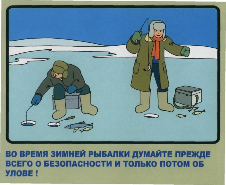 Зимняя рыбалка в рисунках
