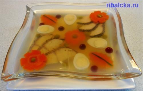 Как сделать заливное из рыбы, заливное из рыбы пошаговый рецепт