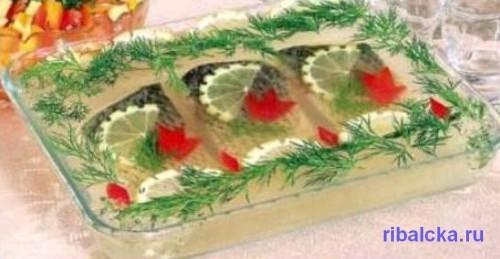 Заливное из рыбы пошаговый рецепт