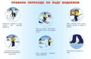 Как передвигаться по льду водоема